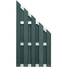 T&J JINAN-Serie ECKE anthrazit 90 x 180/90 cm, WPC-Bretterzaun Querriegel ALU anodisiert