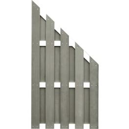 T&J JINAN-Serie ECKE braun 90 x 180/90 cm, WPC-Bretterzaun Querriegel ALU anodisiert