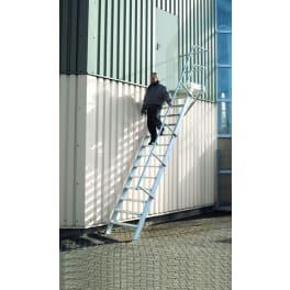 Euroline Nr. 511 Podesttreppe - Steigwinkel 45° - Aufpreis zweites Treppen-/ Podestgeländer