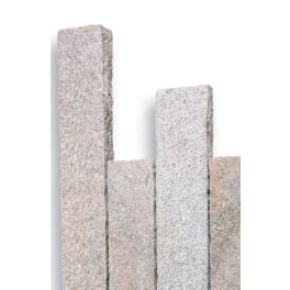 Seltra Granit Palisaden -8x20cm- SOL EXACTA -gestockt-, 8x20x150cm gelb-grau