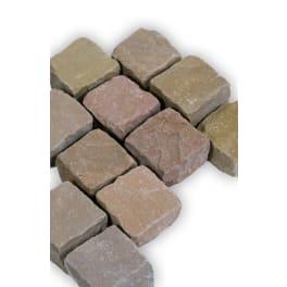 Seltra Sandstein Pflastersteine MANDRA, 5x5x5cm (4/6) gelb-hellbeige