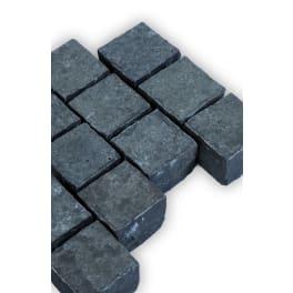 Seltra Basalt Pflastersteine SANOKU, 15x15x12cm (14/16) anthrazit-schwarz
