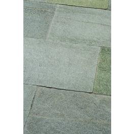 Seltra Gneis Terrassenplatten LUSERNA VALLEVERDE CLASSIC, 40x3-5cm, inslängen grau-gelblich gemischt