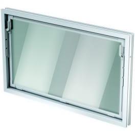 ACO Nebenraum-Kippfenster Einfachglas 100x80cm weiss