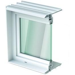 ACO Therm Leibungsfenster 36,5cm tief Wärmeschutzverglasung