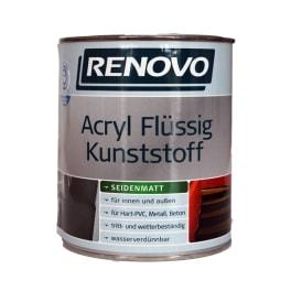 Renovo Acryl Flüssigkunstoff seidenmatt lichtgrau 750 ml