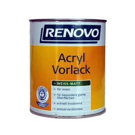 Renovo Acryl Vorlack weiss 750 ml