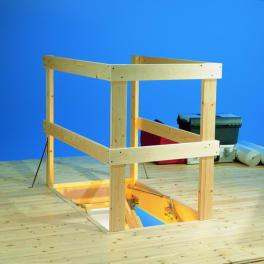 DOLLE Lukenschutzgeländer, Holz max. 130 x 70 cm