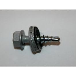 Trapezblechschraube RAL9006 4,8 x 20 mm