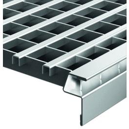ACO Lichtschachtabdeckung Längsprofilrost Stahl verzinkt 80 x 40 cm