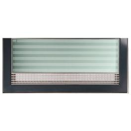 ACO Lichtschachtabdeckung Teilglas mit Längsprofilrost terrassenseitig Einfassungsrahmen Edelstahl anthrazit 125 x 60 cm