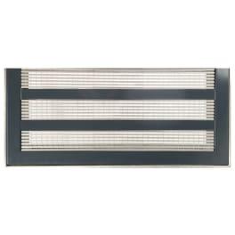 ACO Lichtschachtabdeckung Längsprofilrost Einlegeprofil Einfassungsrahmen Edelstahl anthrazit 100 x 60 cm