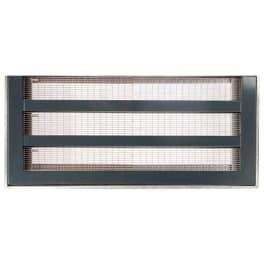 ACO Lichtschachtabdeckung Maschenrost Einlegeprofil Einfassungsrahmen Edelstahl anthrazit 100 x 60 cm