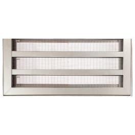 ACO Lichtschachtabdeckung Maschenrost Einlegeprofil Einfassungsrahmen Edelstahl gebürstet 100 x 60 cm