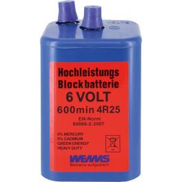 Triuso Blockbatterie 6 Volt 7Ah Zink-Kohle