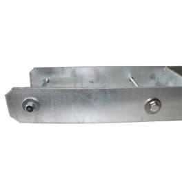 H-Pfostenträger 121 x 800 x 8,0 mm mit Schrauben