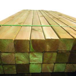 T&J Kantholzpfosten grün  9 x 9 x 100 cm allseitig glatt