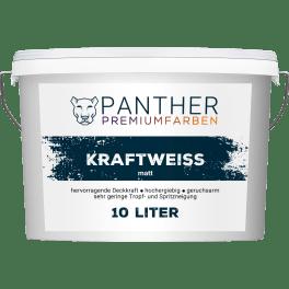 Panther Premiumfarben Wandfarbe Kraftweiss, 10 l