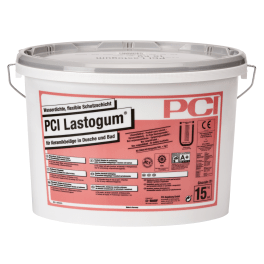 PCI Lastogum Wasserdichte, flexible Schutzschicht 15 kg Eimer grau