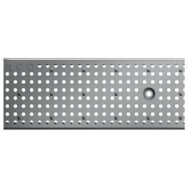 ACO Profiline 1,0m Lochrost Edelstahl für Baubreite 13 cm