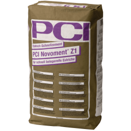 PCI Novoment Z1 Estrich-Schnellzement 25 kg Sack grau