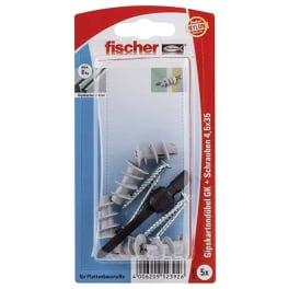 fischer Gipskartondübel GK S mit Schraube (Verpackungseinheit: 5 Packungen)