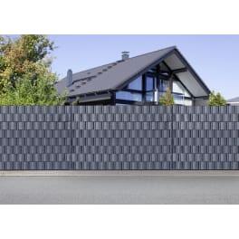 Sichtschutz 1 x 26000 x 190 mm anthrazitgrau inkl. 3x Wind- und Sichtschutzstreifen PP