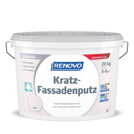 RENOVO Kratz-Fassadenputz 20 kg 2 mm