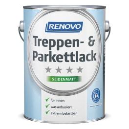 RENOVO Treppen- und Parkettlack seidenmatt 2,5L farblos