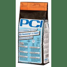PCI Flexmörtel S1 Rapid Fliesenkleber 5 kg Beutel grau