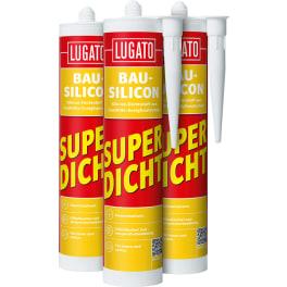 LUGATO Elastische Fugenabdichtung, schwarz (12 x 300 ml)