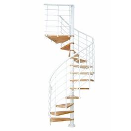 DOLLE Spindeltreppe Oslo Buche, Geschosshöhe bis 276 cm, weiss