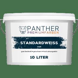 Panther Premiumfarben Wandfarbe Standardweiss, 10 l