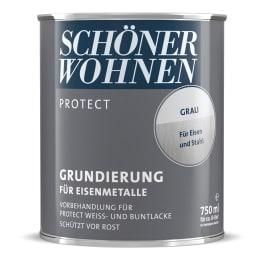 Schöner Wohnen Protect Lack Grundierung 750ml grau für Eisenmetalle