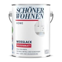 Schöner Wohnen Home Weisslack seidenmatt weiss