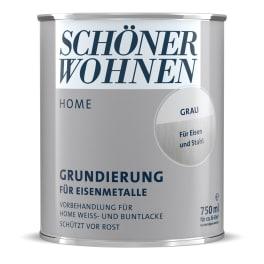 Schöner Wohnen Home Lack Grundierung 750ml grau für Eisenmetalle