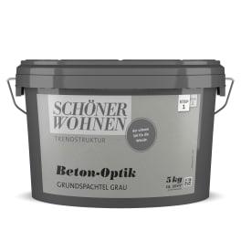 Schöner Wohnen Beton-Optik Grundspachtel 5,0Kg grau