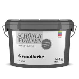 Schöner Wohnen Wischoptik Grundfarbe glatt 2,5L weiss