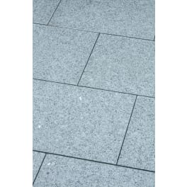 Seltra Granit Terrassenplatten BRAVO EXACTA -geflammt-, 40x40x3cm Farbe: edelgrau