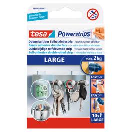 tesa® Powerstrips LARGE für max. 2kg, Packung mit 10 Strips
