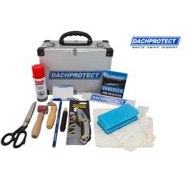 DACHPROTECTzeugstoff mit Verlegewerkzeug