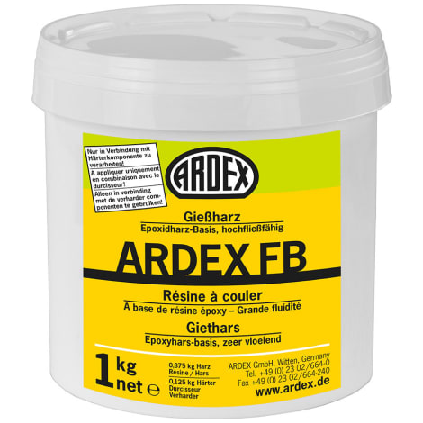 ARDEX FB Giessharz, Dose mit Deckeleinheit: 1 kg (VE = 10 Dosen) 1045209