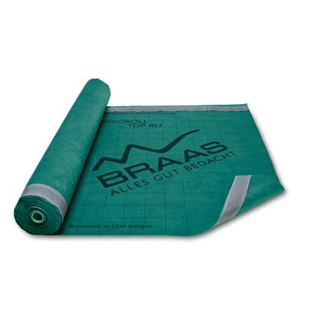 Braas Divoroll Top RU (50x1,5m)grün UDB-A,USB-A,f.regensich.Unterdach 1105858