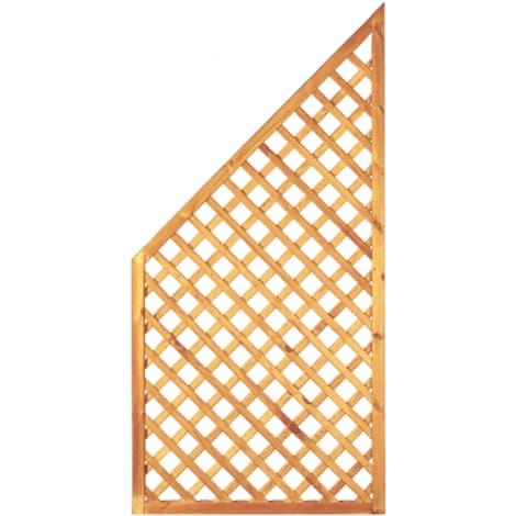 T&J Diagonal-Rankzaun ECKE grün 6 x 6 cm   90 x 180/90 cm  Rahmen 45/45 mm 1009444