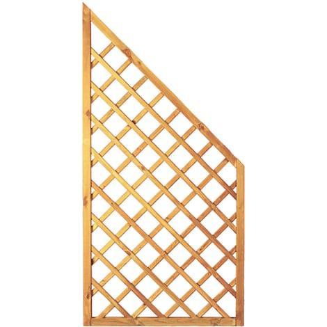T&J Diagonal-Rankzaun ECKE grün 10 x 10 cm  90 x 180/90 cm  Rahmen 45/45 mm 1009447