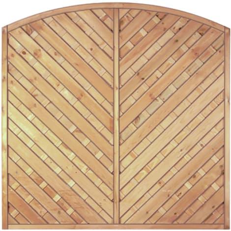 T&J Maxi-Diagonal-Bogen-Serie grün 180 x 180/160 cm  Rahmen 45/45 mm, Lamellen geriffelt & geschraubt 1009467