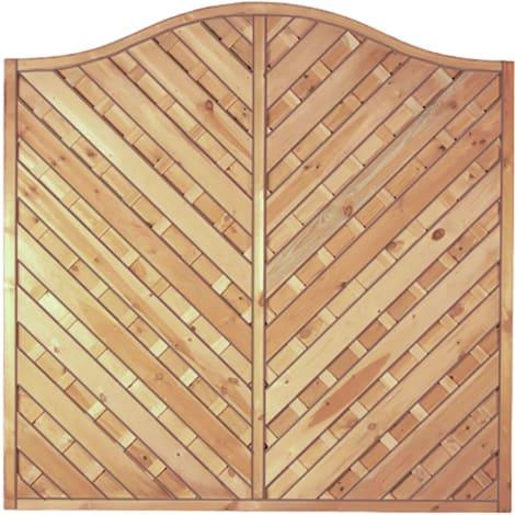 T&J Maxi-Diagonal-Krone-Serie grün 180 x 180/160 cm  Rahmen 45/45 mm, Lamellen geriffelt & geschraubt 1009470
