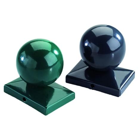 T&J Kugel f. Doppelstabmatten RAL 6005 grün für JERRY-Pfosten - 80/40 mm 1010096