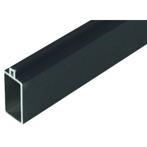T&J GOTLAND-Serie WPC-Steckzaunsystem SET mit Start- & Abschlussleiste, inkl. Befestigung 20 x 40 x 1795 mm, Aluminium ANTHRAZIT 1012366