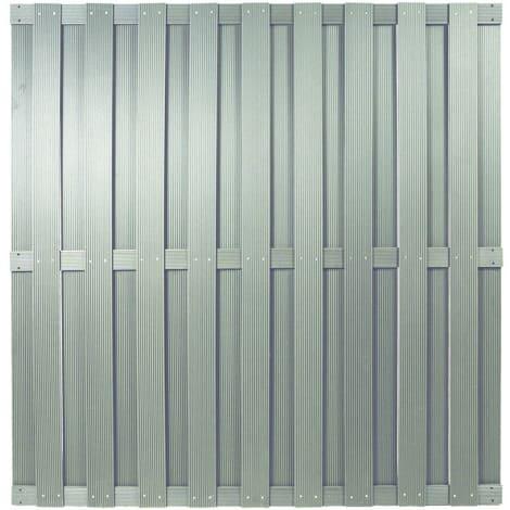 T&J SHANGHAI-Serie silbergrau 180 x 180 cm, WPC-Bretterzaun 1010466